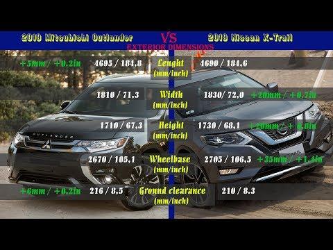 2019 Mitsubishi Outlander Vs 2019 Nissan X-Trail (technical Comparison)