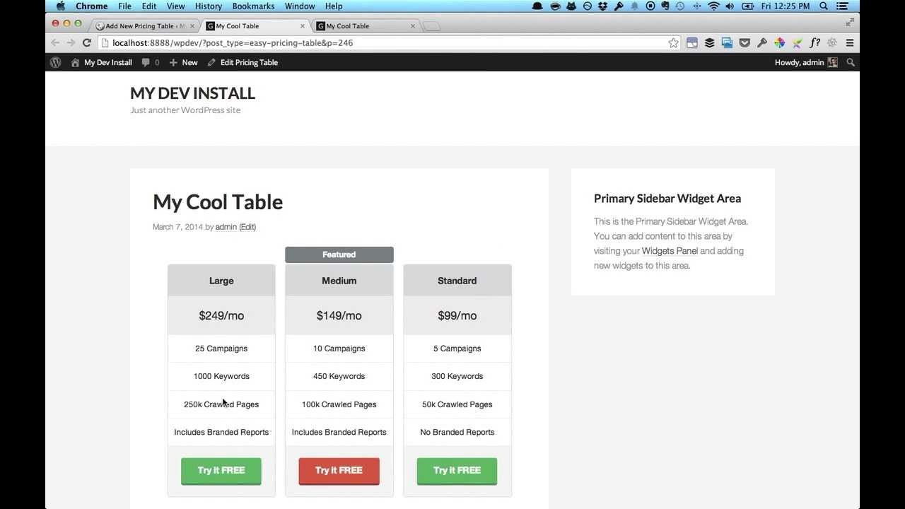 Easy Pricing Tables Free for WordPress - Explainer Video - YouTube