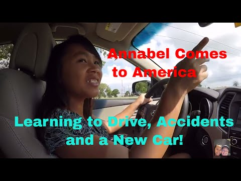 Annabel Comes to America:  A new car, learning to drive and the crash!