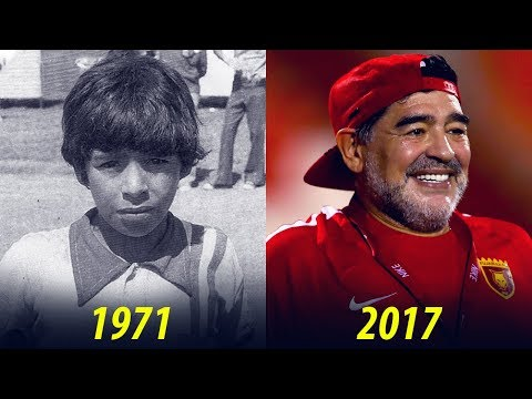 Diego Maradona - Transformation From 8 To 57 Years Old