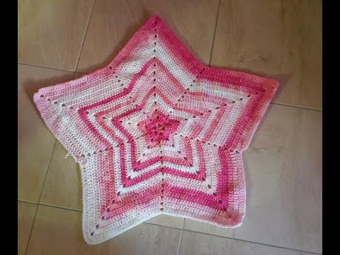 Crochet Baby Star Blanket Youtube