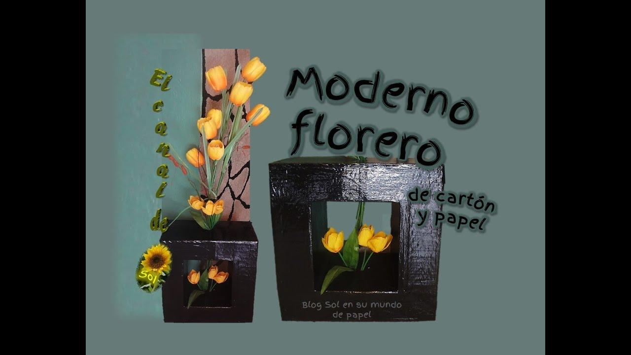 Moderno florero de cart n y papel modern vase cardboard - Floreros modernos ...