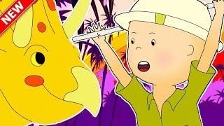 ★NEW★ Caillou's Dinosaur Adventure | Funny Animated Caillou | Cartoons for kids