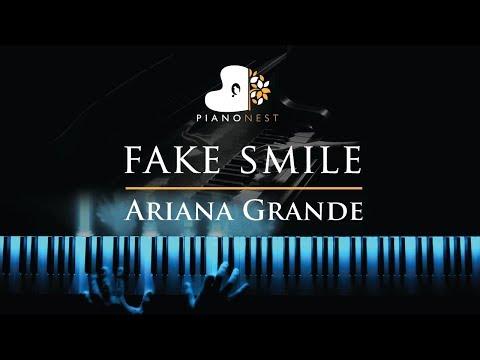 Ariana Grande - fake smile - Piano Karaoke / Sing Along Cover with Lyrics