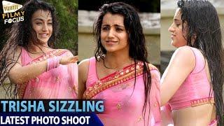 Trisha in Wet Saree || Kalavathi Movie Stills - Filmy Focus