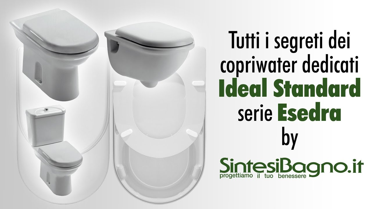 Copriwater ideal standard esedra sedili wc dedicati for Serie esedra ideal standard