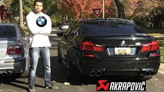 BMW Driver Drives A BMW F10 M5 *AKRAPOVIC EXHAUST*