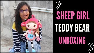 Sheep Girl Soft Toy Unboxing Cartoon Plush Soft Toy Unboxing Birthday Gift For Kids Unboxing