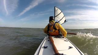 kayak sailing with falcon sails at the South Bass Rendezvous Patrick & Kelley Thumbnail