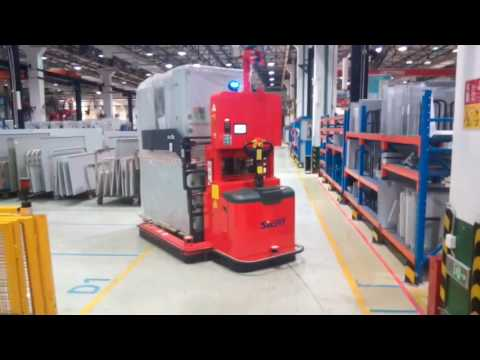 Automated Guided Vehicle Agv Reach Truck Laser Guided