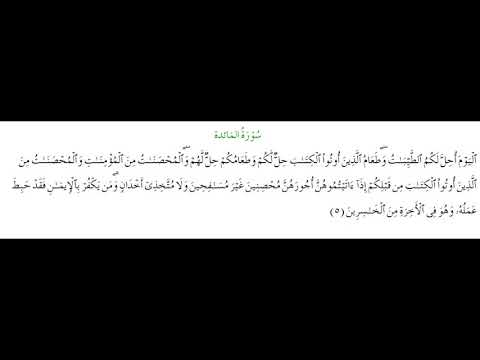 SURAH AL-MAEDA #AYAT 5: 25th November 2020
