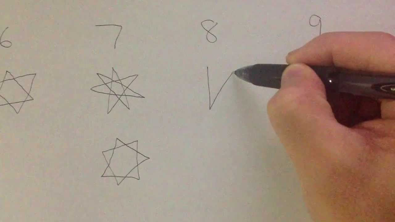 how to draw 5 6 7 8 9 pointed star youtube