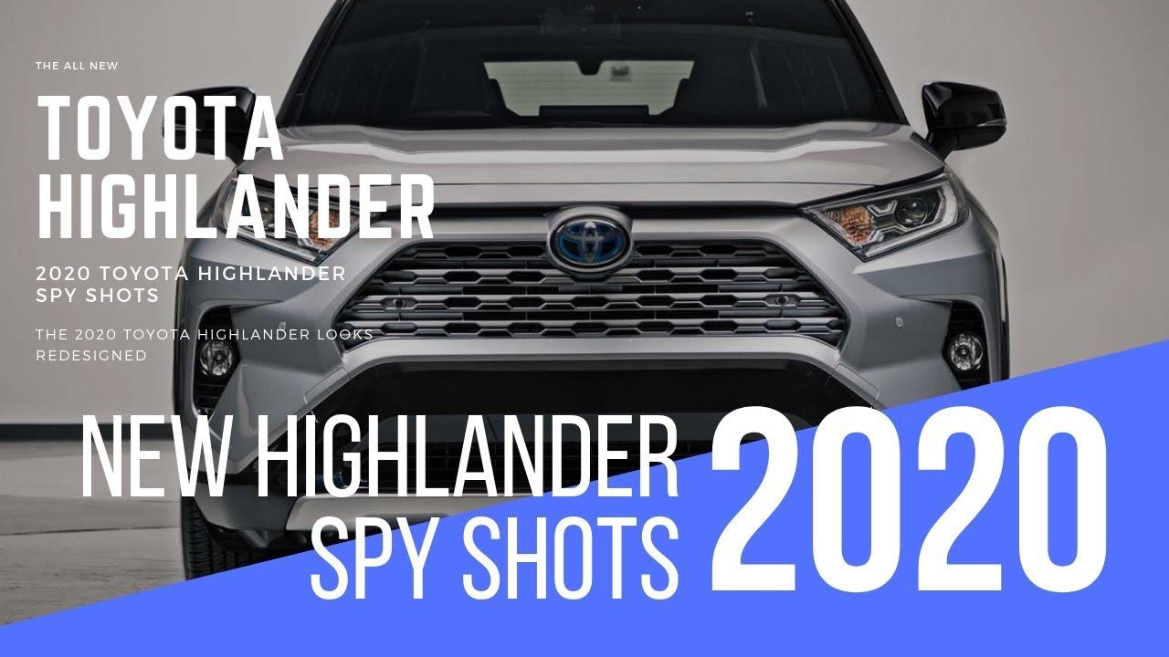 2020 Toyota Highlander Redesign Spy Shots