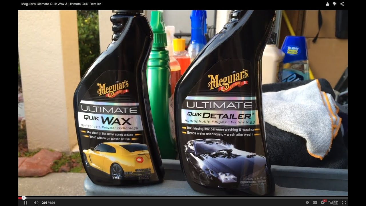 meguiar 39 s ultimate quik wax ultimate quik detailer youtube. Black Bedroom Furniture Sets. Home Design Ideas