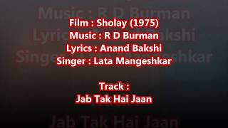 Haan jab tak hai jaan - - Full Karaoke with scrolling lyrics
