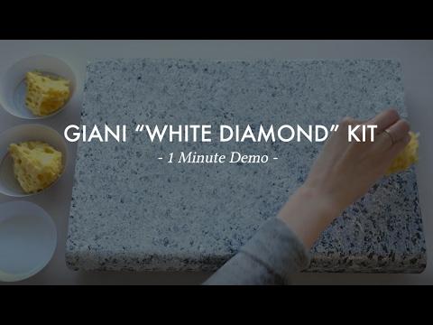 White Diamond 1 Min Demo Giani Countertop Paint Youtube