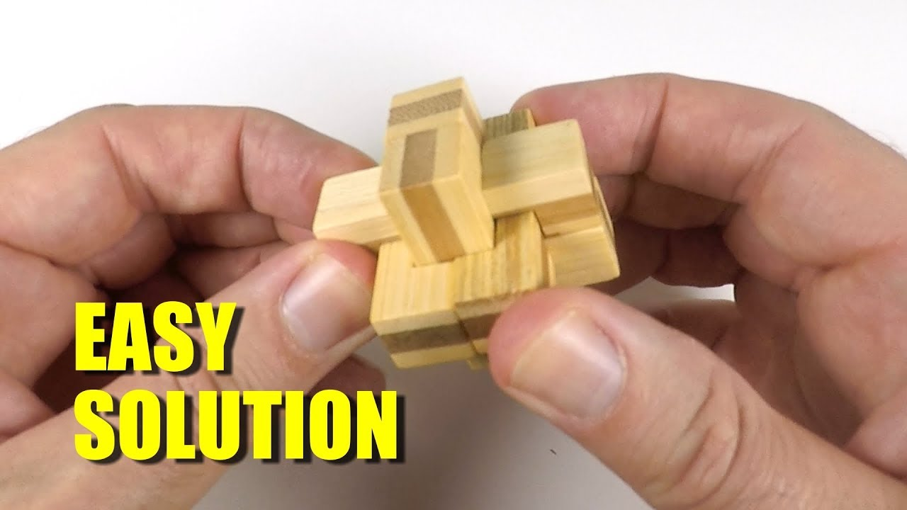 6 Piece Wooden Cross Puzzle Solution