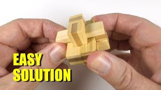 6-Piece Wooden Cross Puzzle Solution