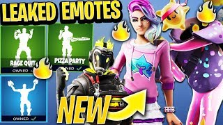 Fortnite *NEW* LEAKED EMOTES & SKINS! (VISITOR V2, Pizza Party and Taco Time Emotes)