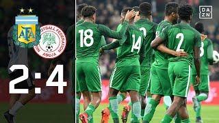 Nigeria blamiert Gauchos nach Rückstand: Argentinien – Nigeria 2:4 | Highlights | Testspiel | DAZN