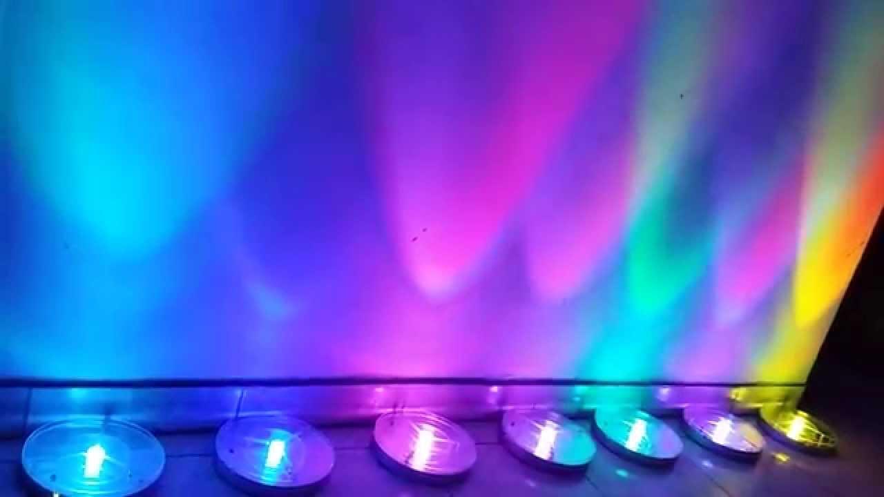 Reflector Led 3W de colores Centro de Mesa YouTube