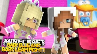 Minecraft Little Kelly : BABY ELLIE FIGHTS WITH BABY LEAH! (Roleplay)