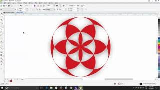 How to Draw Seed of Life in CorelDraw X8 Tutorial | The Teacher