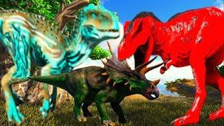Estou Indo Vingar o Meu Papai Parassauro e o Amigo Do Trick Ferido Dinossauros! Ark Survival Evolved