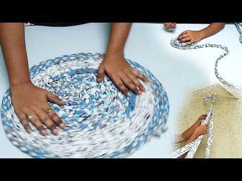 Simple Life Hacks How To Make A Doormat With a Old Saree | DIY | Refashion Clothes - DIY Crafts