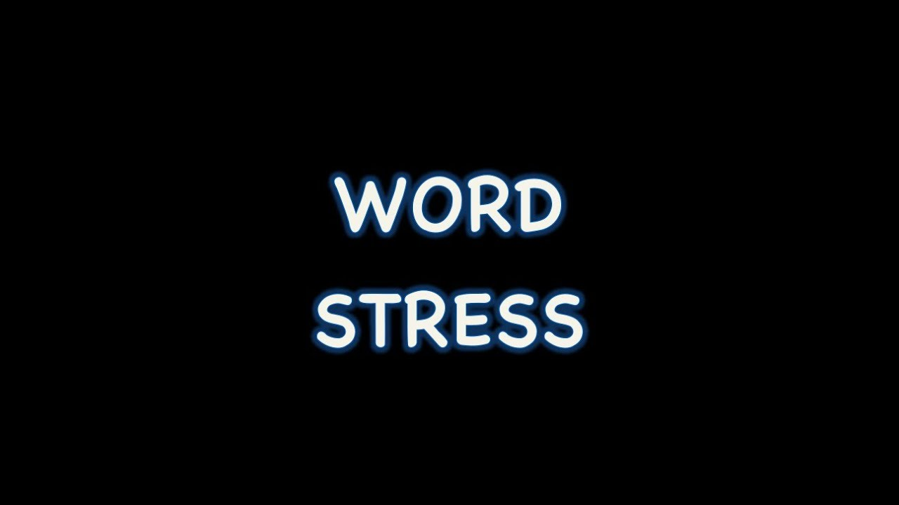 How to put stress in a word