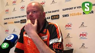 Persconferentie Raymond van Barneveld - Premier League of Darts Ahoy