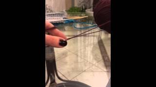 How to knit. Вязание спицами. Урок 4. 2 нити из 1 клубка