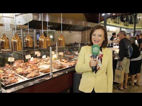 "FOOD STORE ""GOURMANOFF"" ON THE BRIGHTON BEACH. REPORTER YULIA RYDLER. NTV-AMERICA"