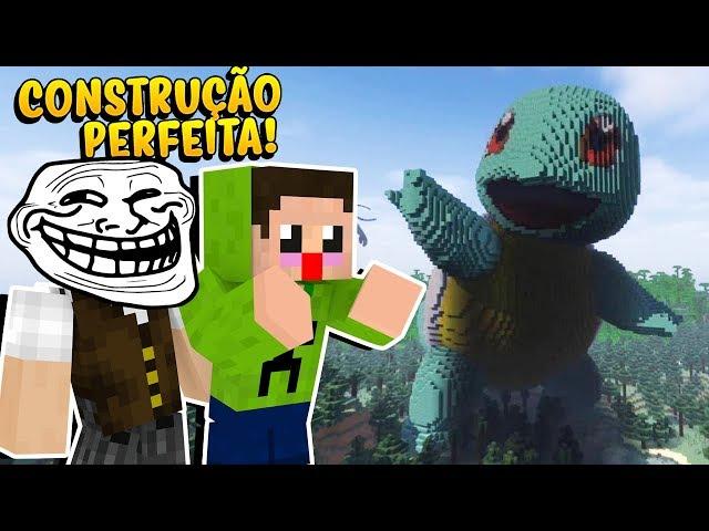 Minecraft: TROLLEI MEU AMIGO CLONANDO UMA CONSTRUÇÃO PERFEITA DA INTERNET! (DEU ERRADO?)