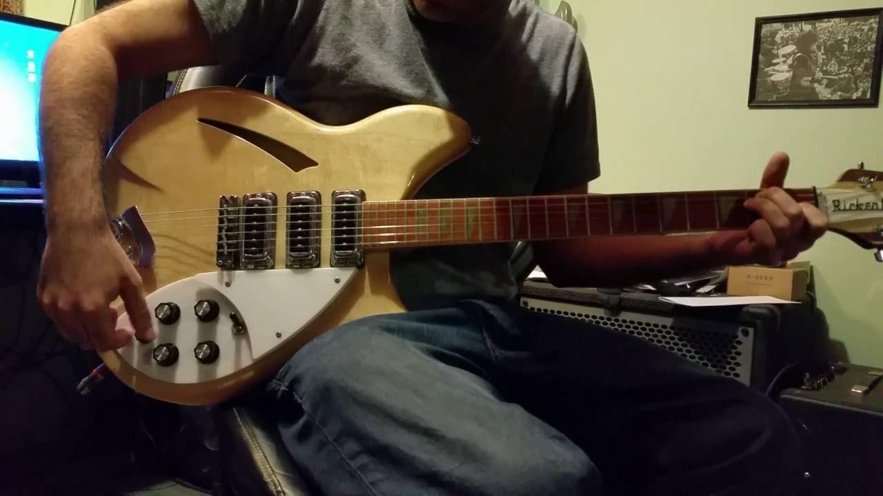 1997 Rickenbacker 370 Mapleglo 3-Pickup Guitar Tone Demo - YouTube