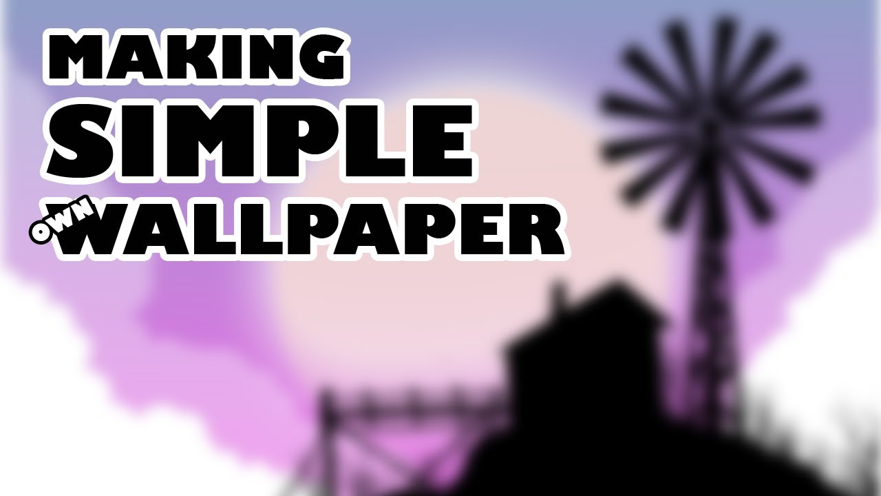 making own easy mobile wallpaper on Photoshop  | Simple Digital drawing tutorial | Black Pencil