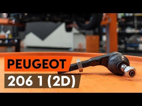 Как заменить наконечники поперечной рулевой тяги на PEUGEOT 206 1 (2D) [ВИДЕОУРОК AUTODOC]