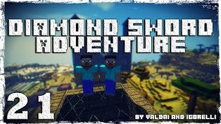 [Coop] Minecraft Diamond Sword Adventure. #21: Ледяная деревня.