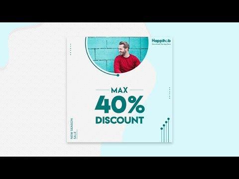 Social media post Design in Photoshop cc 2019 | A to Z Complete Banner Design tutorial | Designhob