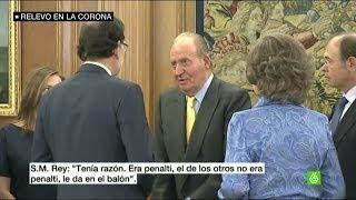 """Rajoy habla con el rey Juan Carlos del Mundial: """"Si perdemos, la culpa será del Gobierno"""""""