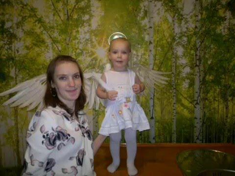Костюм Ангелочек дочке на Новый год 2016. Тюмень.
