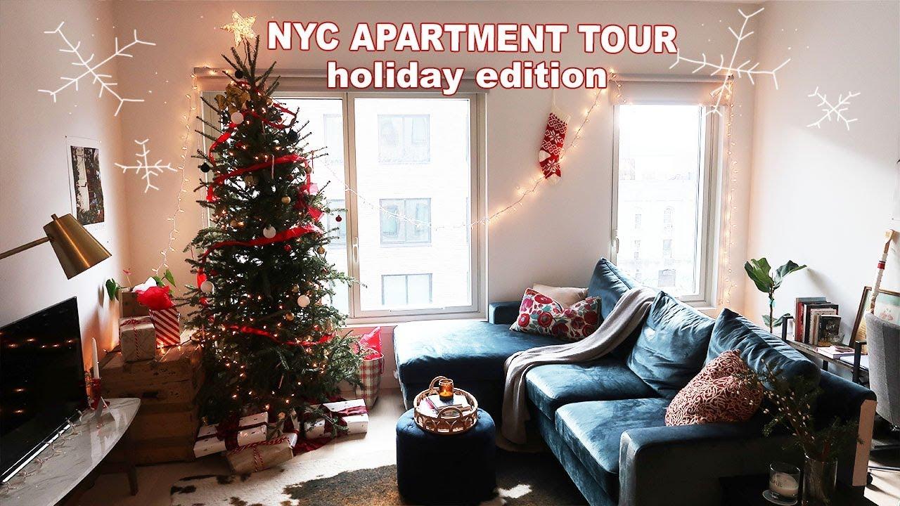 NYC APARTMENT TOUR   Christmas Decor Edition - YouTube