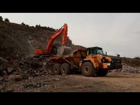 Komatsu HM400|Doosan DX380LC Quarry Work
