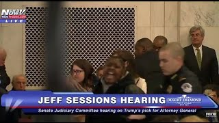 FOURTH INTERRUPTION: Protesters Removed During Jeff Sessions Confirmation Hearing - FNN