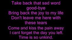Unbreak my heart lyrics