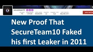 SecureTeam10  Faked UFO Leaker interviews since 2011 - Area51 Anon,Mr Ken,Dr Norton