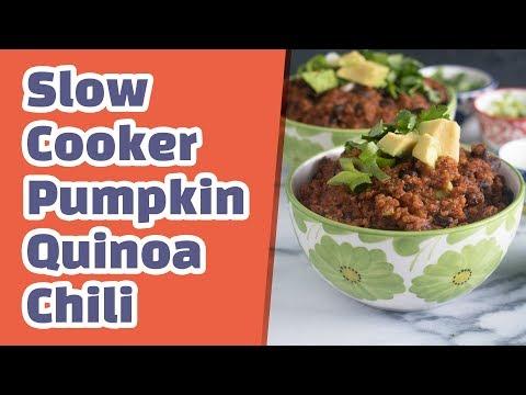 Slow Cooker Pumpkin Quinoa Chili