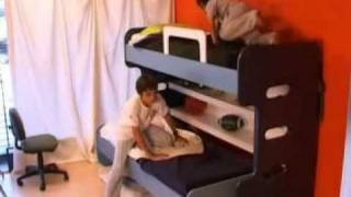 Hiddenbed New Zealand | Kids Bunk Beds Desk In One