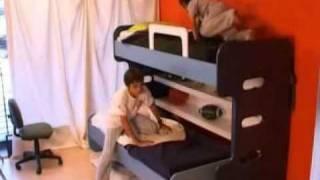 Hiddenbed New Zealand | Kids Bunk Beds Desk In One