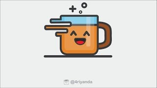How to make coffee icon illustration in using adobe illustrator